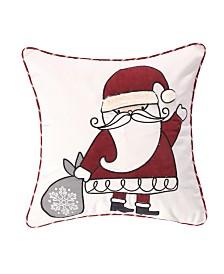 Levtex Home Santa Claus Lane Applique Santa Pillow