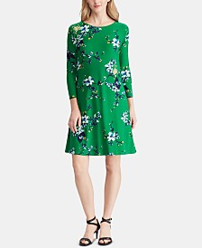 Lauren Ralph Lauren Petite Floral-Print Dress, Created for Macy's
