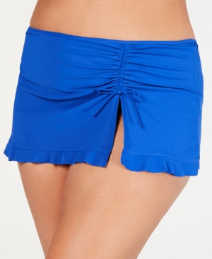 Profile By Gottex Suits PROFILE BY GOTTEX PLUS SIZE TUTTI FRUTTI SKIRTED SWIM BOTTOMS WOMEN'S SWIMSUIT