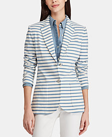 Lauren Ralph Lauren Striped Cotton Blazer