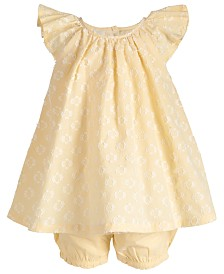 First Impressions Baby Girls Flutter-Sleeve Skirted Romper, Created for Macy's