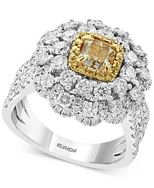 EFFY® Diamond (3 ct. t.w.) Statement Ring in 18k Gold and White Gold