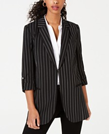 XOXO Juniors' Striped Long Blazer