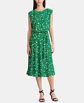 d7f86aaa8f0 Lauren Ralph Lauren Floral-Print Cap-Sleeve Dress