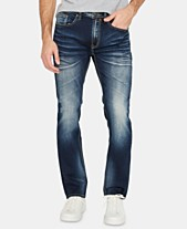 519bfe6f676 Buffalo David Bitton Men s Slim-Fit Ash-X Washed   Blasted Jeans