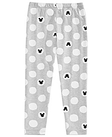 Little Girls Printed Mickey Mouse Leggings