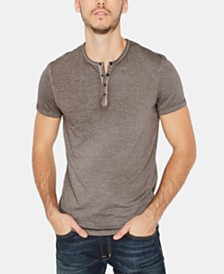 Buffalo David Bitton Men's Kasum Vintage-Inspired Henley