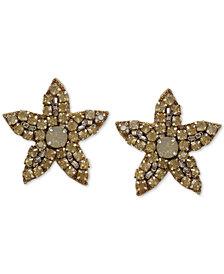 Deepa Crystal Flower Stud Earrings
