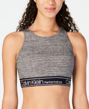 de10e756db Calvin Klein Performance Logo Strappy-Back Medium-Impact Sports Bra