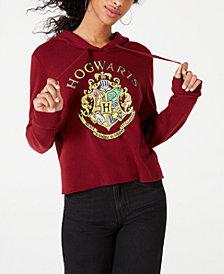 Modern Lux Juniors' Hogwarts Cropped Hoodie