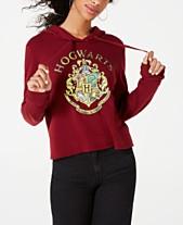 Modern Lux Juniors  Hogwarts Cropped Hoodie 51564f186