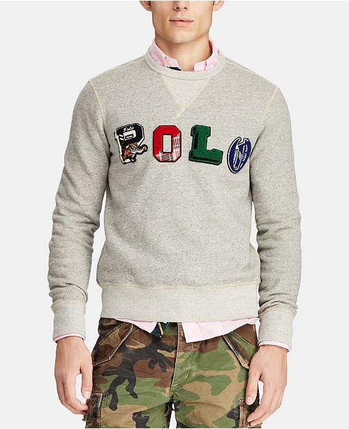 36528efb Polo Ralph Lauren Men's Polo Fleece Graphic Sweatshirt & Reviews ...