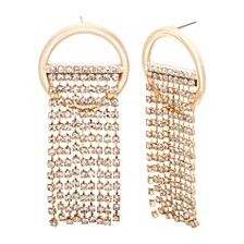 Chain Ring Post Earring
