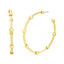 Ball Station Hoop Earring