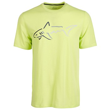 Attack Life by Greg Norman Mens Shark Logo T-Shirt