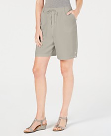 Karen Scott Cotton Drawstring Shorts, Created for Macy's