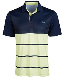 Attack Life by Greg Norman Men's Taylor Block Strip Polo
