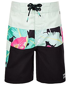 Toddler Boys Floral-Print Board Shorts