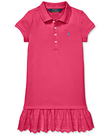 Polo Ralph Lauren Little Girls Eyelet Polo Dress