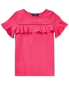 fae372ce Polo Ralph Lauren Big Girls Stretch Mesh Polo Shirt & Reviews ...