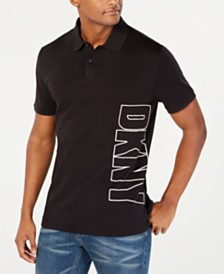 DKNY Men's Logo Graphic Polo Shirt