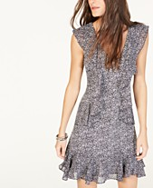 c5ae3163aeeb MICHAEL Michael Kors Ruffle-Trim Printed Dress, Regular & Petite