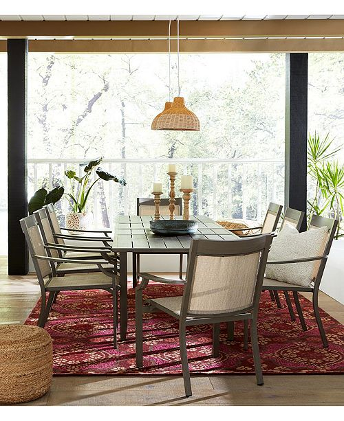 Furniture CLOSEOUT! Rialto Outdoor Aluminum Extension Dining Table, Created For Macy's