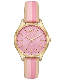 Women's Lexington Brown & Pink Leather Strap Watch 36mm