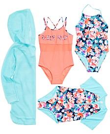 Ideology Big Girls Cover-Up and Swimsuit Mix and Match Separates, Created for Macy's