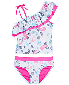 DKNY Big Girls 2-Pc. Paisley-Print Tankini