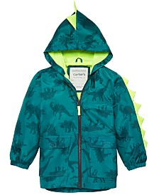 Carter's Toddler & Little Boys Hooded Dinosaur-Print Rain Jacket
