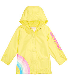Carter's Toddler & Little Girls Hooded Rainbow Rain Jacket
