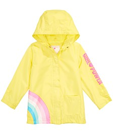 Carter's Toddler & Little Girls Hooded Rainbow Rain Jacket