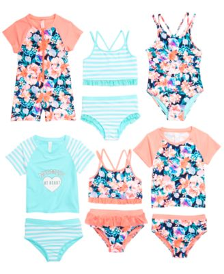 Little Girls 2-Pc. Striped Tankini, Created for Macy'