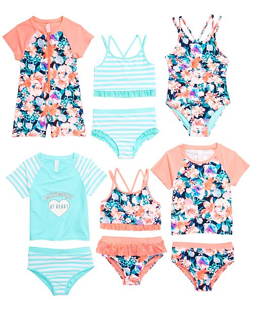 609451fecbdb2 Ideology Little Girls Swimwear Mix & Match Separates, Created for Macy's