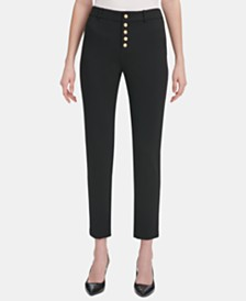 Calvin Klein Embossed-Button Pants