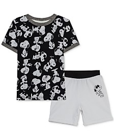 Peanuts Toddler Boys T-Shirt & Shorts Set