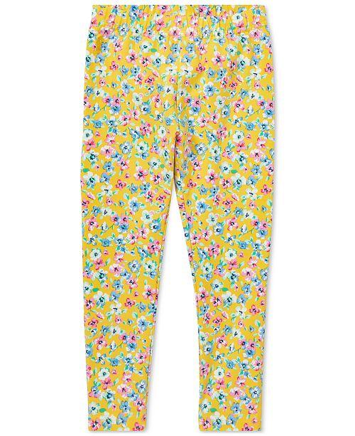 Polo Ralph Lauren Little Girls Floral-Print Jersey Leggings