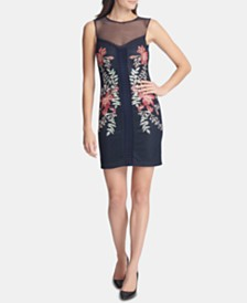 GUESS Embroidered Lace Sheath