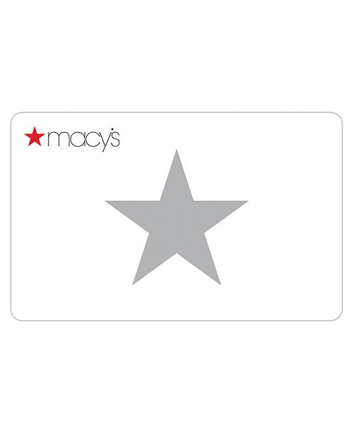 Macy's Classic Gift Card with Letter