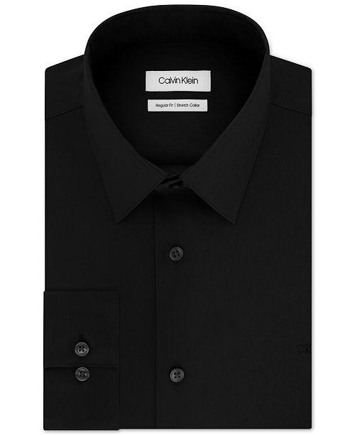 Calvin Klein Men's Classic/Regular-Fit Stretch Flex Collar Solid Dress Shirt