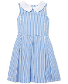 Polo Ralph Lauren Toddler Girls Seersucker Fit & Flare Cotton Dress