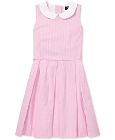 Polo Ralph Lauren Big Girls Seersucker Fit & Flare Cotton Dress