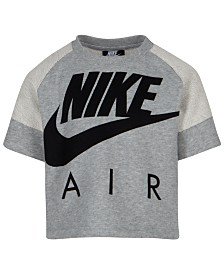 Nike Little Girls Air LogoGraphic Crop Top