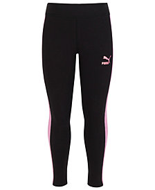 Puma Big Girls Contrast-Stripe Leggings