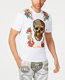 Men's Fire & Roses Graphic T-Shirt