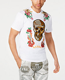 Reason Men's Fire & Roses Graphic T-Shirt