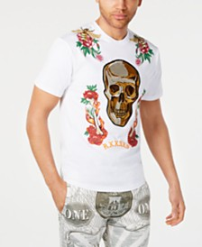 Reason Men's Fire & Roses Graphic T-Shirt