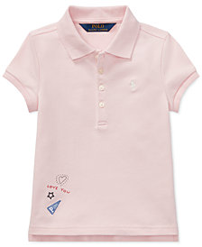 Polo Ralph Lauren Little Girls Patchwork Stretch Polo