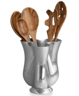 Nambe Gourmet Tulip 5 Piece Set Kitchen Utensils